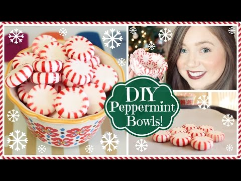 DIY Peppermint Bowls! ❄HolidAMY Day 9   2015❄