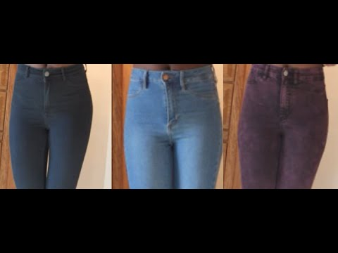 High waisted jeans for $10 | skinny jeans (H & M)