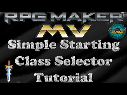 RPG Maker MV Tutorial Simple Starting Class Selection