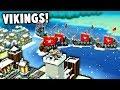 INVADING Vikings Fleet!  Defending our Islands! (Kingdoms and Castles New Update Gameplay)