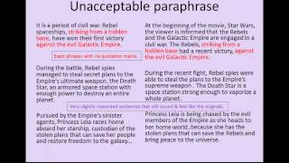 Summarizing Paraphrasing And Quoting A Guide To Doing It Right