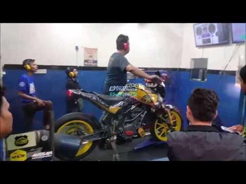 KTM DUKE 200 PowerTRONIC ECU Dyno Tuning Race Bike - Motodynamics Technology Malaysia