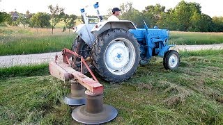 Ford 4000 Tractor Cutting Hay