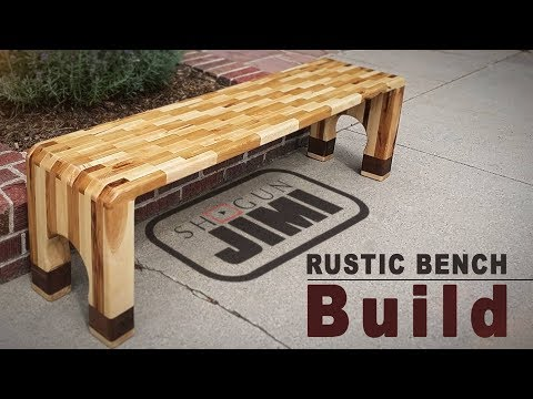 Rustic Wood Bench -a  Happy Accident - Jackman Inspired