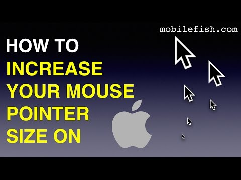 How to increase your mouse pointer size on macOS Sierra