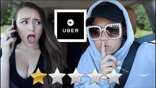 PICKED UP MY GIRLFRIEND IN AN UBER UNDER DISGUISE!