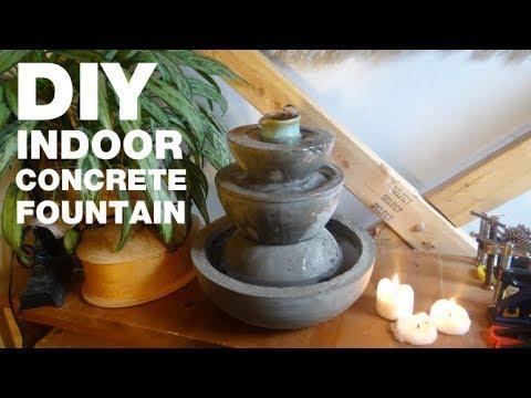 How to Build a Desktop Concrete Fountain