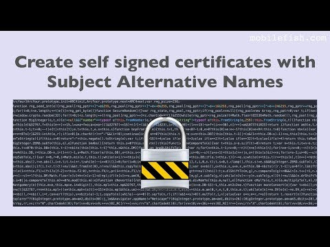 Create self signed certificates with Subject Alternative Names