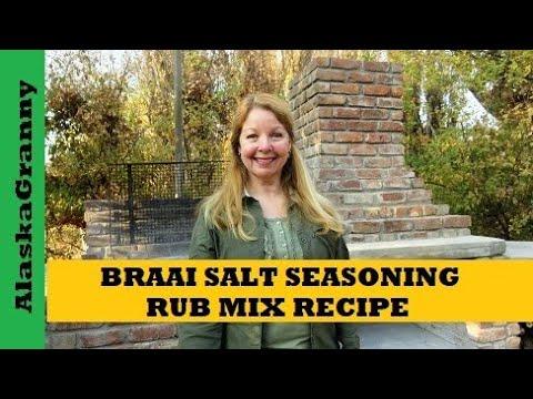 Braai Salt Seasoning Rub Recipe Mix for Grilling South African Style