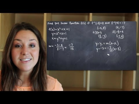 Finding the linear function given two points on its inverse (KristaKingMath)