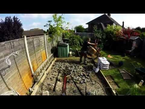 Concreting a shed base