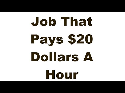 Job That Pays 20-30 Dollars Per Hour. No Experience Needed!