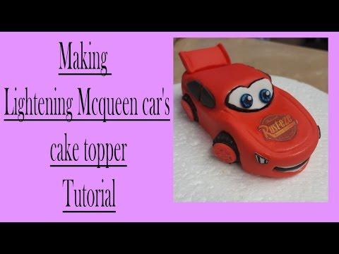 Making a gum paste lightning McQueen car cake topper tutorial