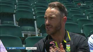 South Africa vs Pakistan | 3rd Test | Chat with Faf