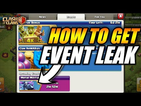 HOW TO GET EVENT LEAKS IN CLASH OF CLANS
