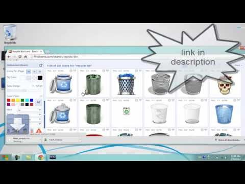 How To Change Recycle Bin Icon in windows 7
