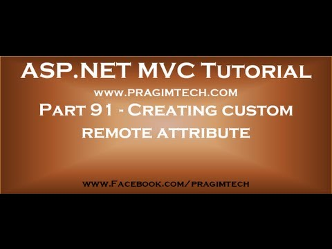Part 91   Create a custom remote attribute and override IsValid) method