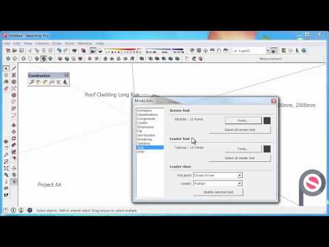 SketchUp - How to use the Text Tool