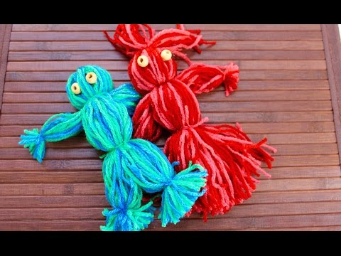 Easy craft: How to make a yarn doll