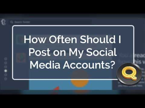 (AUDIO) How Often Should I Post on My Social Media Accounts ANSWERED | Quicksnip Social Media