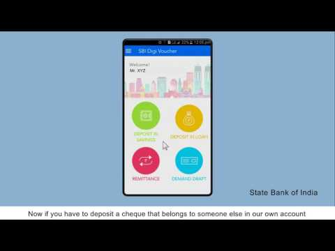 SBI DigiVoucher: Create Cheque Deposit Vouchers (Video Created as on January 2017)