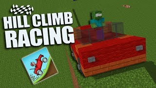 Monster School : HILL CLIMB RACING CHALLENGE - Minecraft Animation