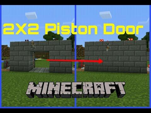 Minecraft PE | How to... Make a Hidden 2x2 Piston Door (NO LAG)