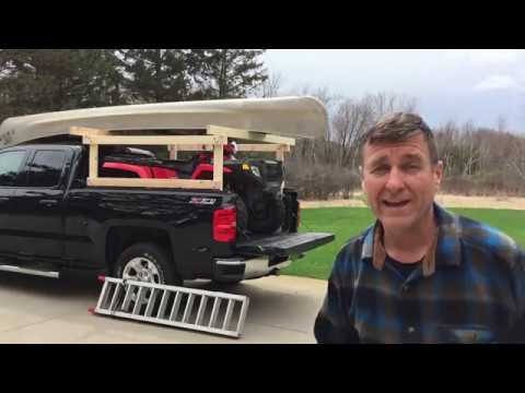 Keiths Canoe Rack and ATV in truck