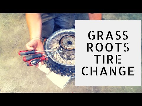 Changing a Dirtbike Tire With Screwdrivers