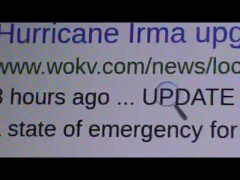 ALERT: GET THE HELL OUT OF FLORIDA GOV DECLARED ENTIRE STATE EMERGENCY, WIND, RAIN, HURRICANE IRMA