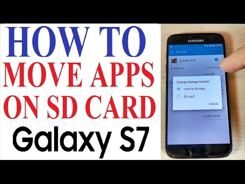 Samsung Galaxy S7, S7 edge - How to Copy/Move/Transfer Applications on SD Card