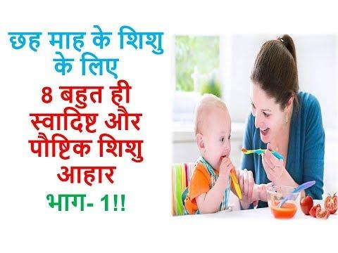 छह माह के शिशु के लिए 8 बहुत ही स्वादिष्ट और पौष्टिक शिशु आहार भाग 1 || Ayurveda Home Care