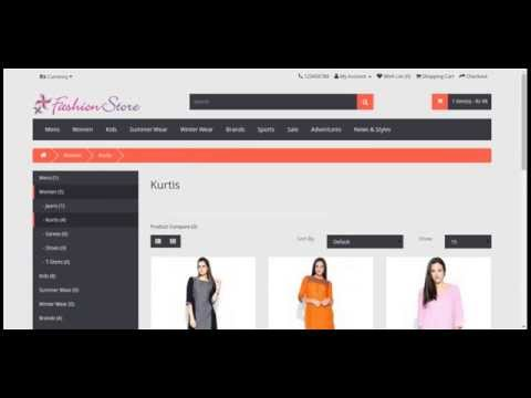 PHP and MySQL Project on Online Fashion Store