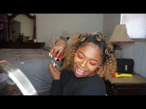 How To   Braidless Bantu Knots with Jamaican Bounce Crochet Braiding Hair
