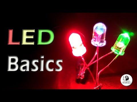 LED Basics - Polarity, Forward voltage & Current rating