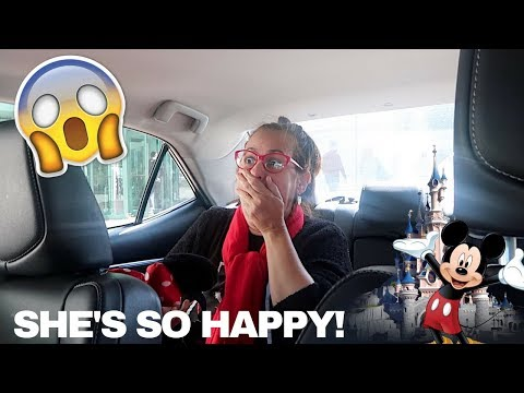 WE SURPRISED HER WITH TICKETS TO DISNEYLAND! *Gets emotional*