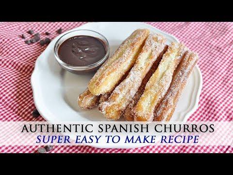 Spanish Churros Recipe with Homemade Chocolate Sauce