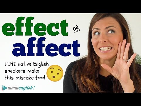 EFFECT or AFFECT? 🤔 English Mistakes that Native Speakers Make too!!