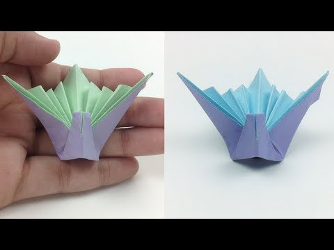 Origami Celebration Paper Crane - How to Make an Origami Flapping Bird [Tutorial]  Step by Step-Easy