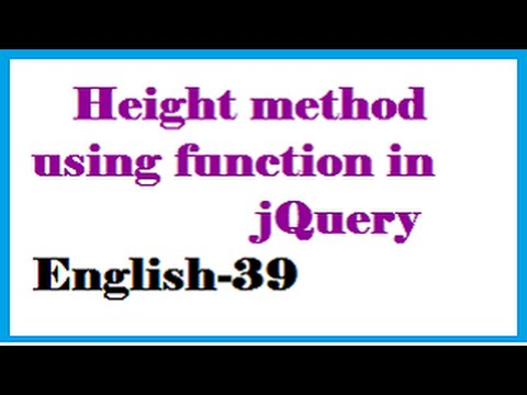 Height method using function in jQuery English-39-vlr training