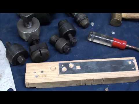 MACHINE SHOP TIPS #126 Cutting Holes in Sheet Metal Pt. 1 of 2 tubalcain