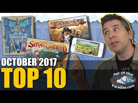 Top 10 most popular board games: October 2017