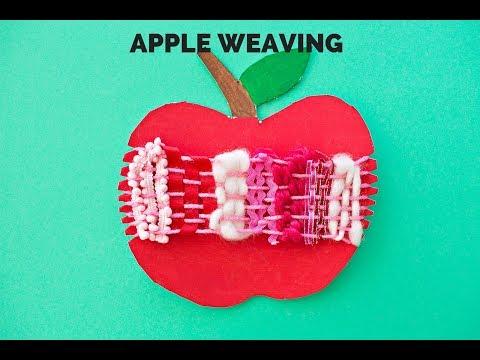 Cardboard Apple Weaving Craft