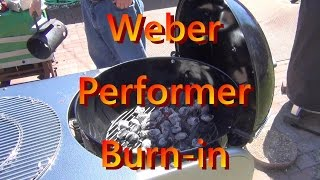 Weber Performer Burn in