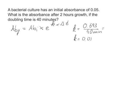 Calculating growth of bacterial culture
