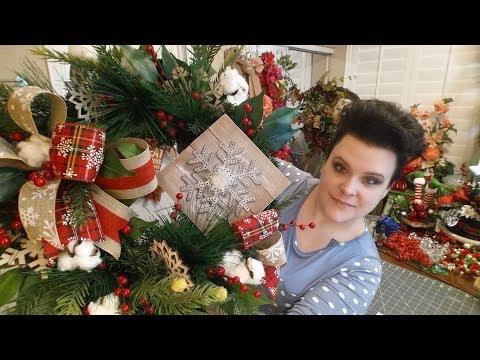 Rustic Snowflake Wreath