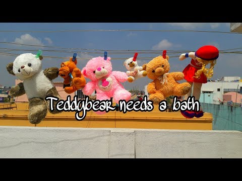 How to wash teddybear | Soft toys cleaning