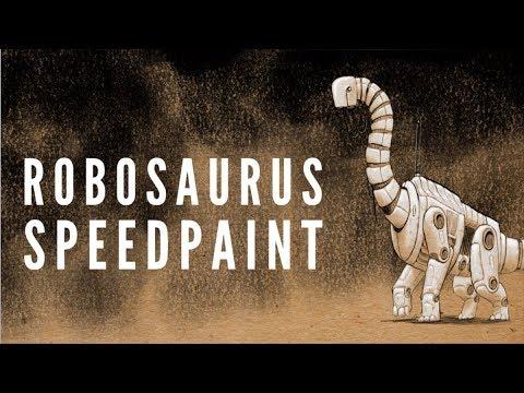 Robosaurus Speedpaint