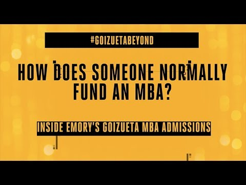 How Does Someone Normally Fund an MBA?