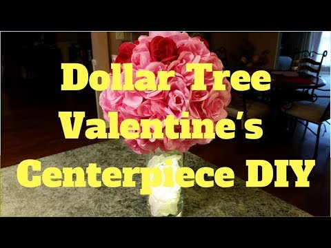 Dollar Tree Valentine's Centerpiece DIY